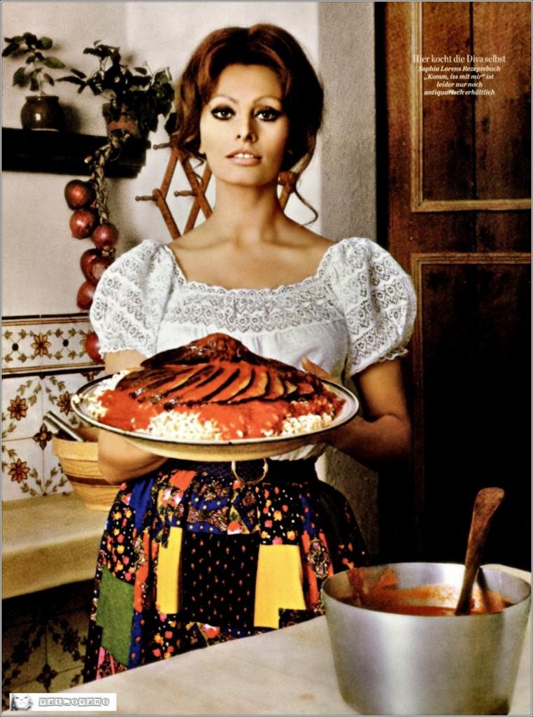 In cucina con amore - Sophia Loren - Stijlmeisje