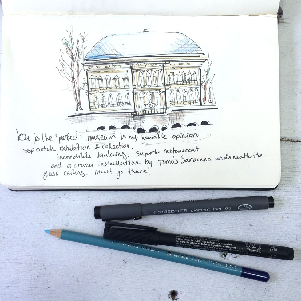Travel: Düsseldorf - an illustrated art diary - Stijlmeisje